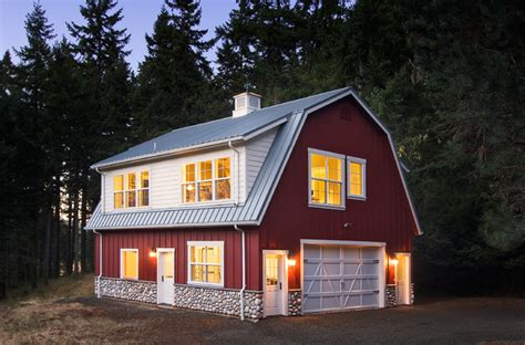 barn style garage with apartment barn studio and loft traditional exterior other