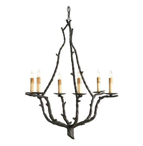 rustic wrought iron chandeliers serendipity rustic wrought iron branch 6 light chandelier