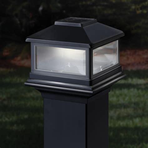solar deck lighting systems deckorators solar post cap light