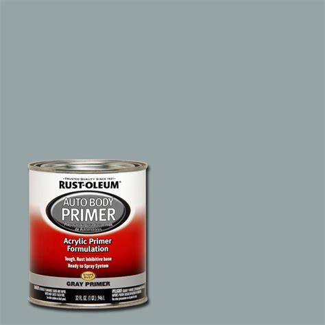 home depot paint no primer rust oleum automotive 1 qt auto primer gray paint