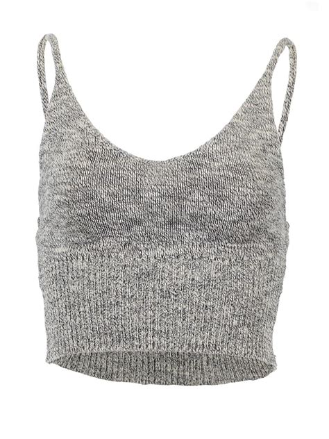 knitted crop top knitted crop tank top from pinkracks things i want as gifts