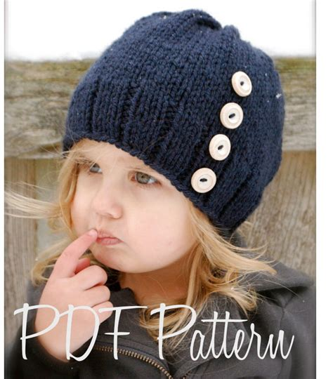 children s knitted hat patterns knitting pattern the hudson hat toddler child