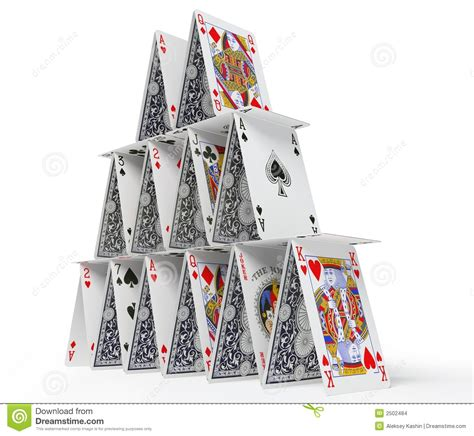 how to make a house of cards the card house stock images image 2502484