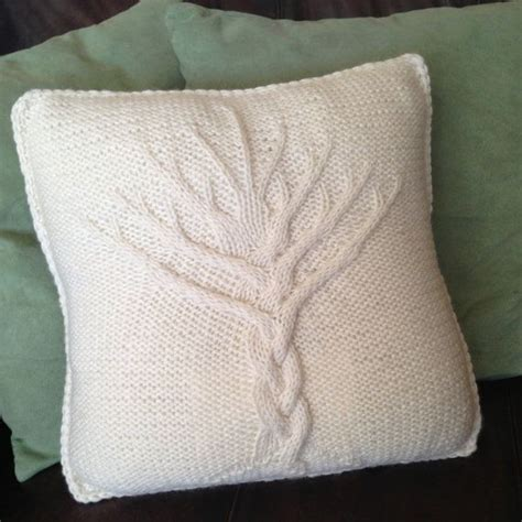 knitted pillow cover pattern free tree of knit pattern tree of pillow cover