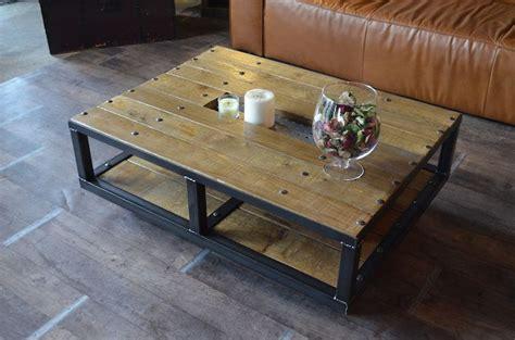table basse style industriel 224 roulettes fabrication artisanale et sur mesure micheli design