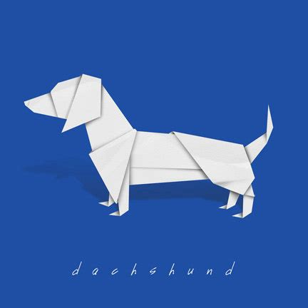 dachshund origami dachshund print of origami design