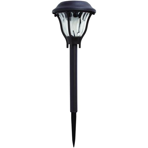 solar outdoor lights home depot hton bay bronze solar led pathway outdoor light 6 pack