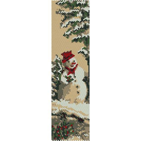 beaded peyote bracelet pattern snowman peyote bead pattern bracelet cuff