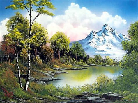 bob ross painting easy easy landscape to paint peaceful landscape paintings by