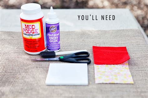 glaze paper craft diy drink coasters from tiles paper