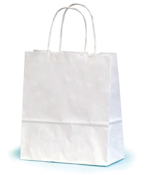 white paper craft bags small white paper gift bag with twisted handles 19 x 7 5 x