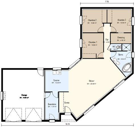 maison moderne 1 niveau en u fd constructions