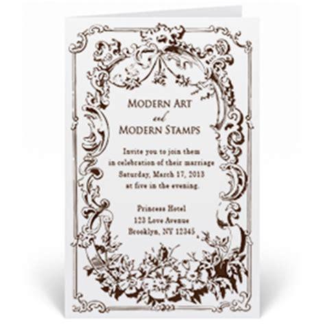 custom rubber sts for wedding invitations custom wedding invitation st vintage frame w9 75