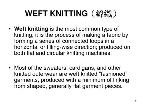 weft knitting process ppt introduction to textile fabrics knitting powerpoint