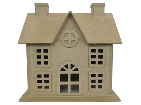 paper house craft craftdrawer crafts how to make a paper mache haunted house