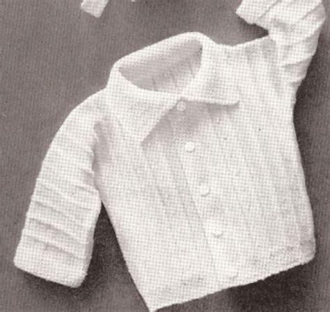 Vintage Knitting Pattern To Make Baby Boy Set Hat Sweater