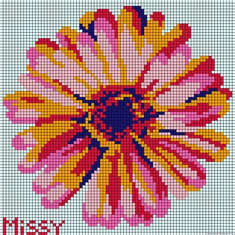 perler bead flower patterns flower perler bead pattern punto de 3