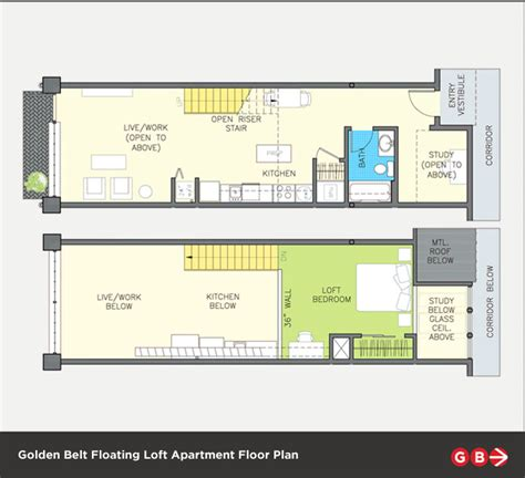 loft floor plans floating lofts golden belt