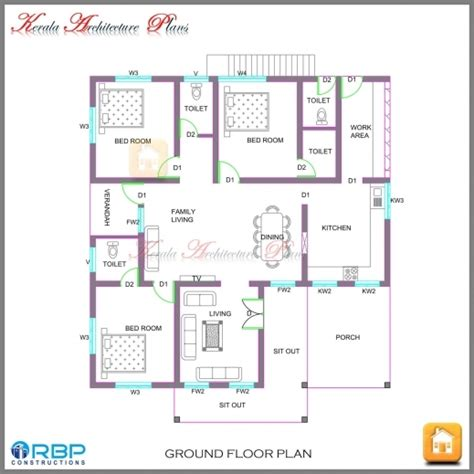 kerala model house plans with elevation single floor house plan and elevation kerala house floor