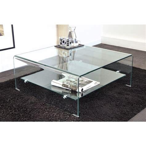 vera table basse carr 233 e en verre courb 233 80 x 80 cm achat vente table basse vera table basse