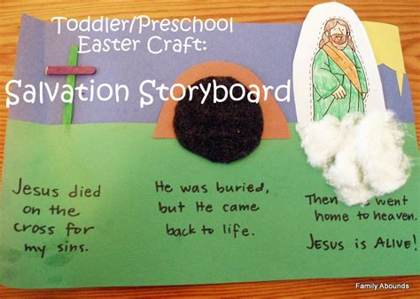 easter bible crafts for family abounds easter salvation storyboard craft
