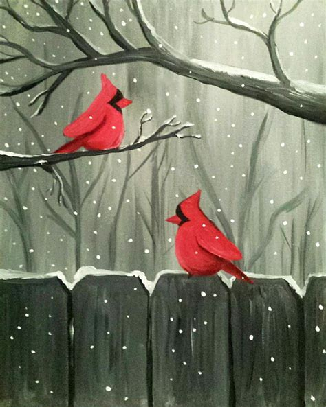 paint nite yerman s winter visitors at frickers troy paint nite events