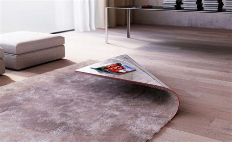 table rug stumble upon rug corner coffee table by alessandro isola