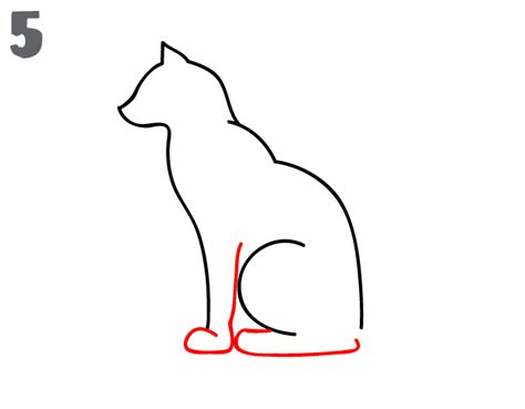 cat step by step how to draw a cat step by step