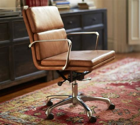 leather swivel office chair nash leather swivel desk chair pottery barn