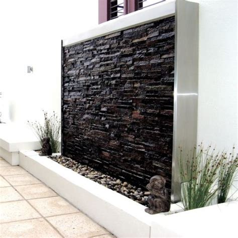 backyard water wall home design ideas amazing outdoor water walls for your