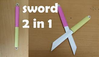 easy origami weapons cool easy origami sword comot