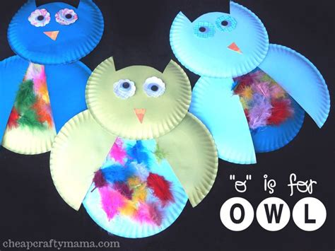 owl paper plate craft paper plate owl craft images