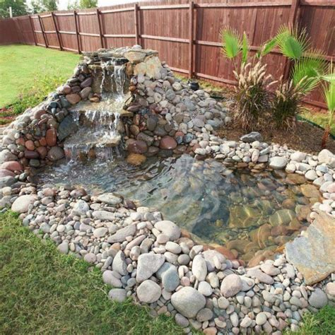 backyard pond ideas with waterfall build a backyard pond and waterfall home design garden