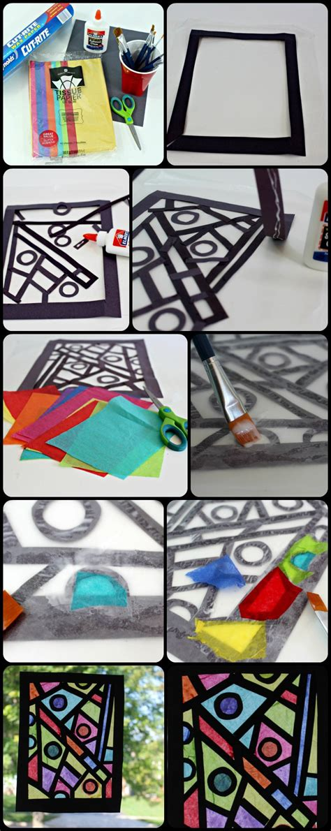 paper stained glass window craft paper craft idea how to make your stained glass window