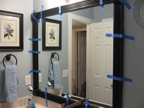 how do you frame a bathroom mirror framing your bathroom mirror inspiration for projects