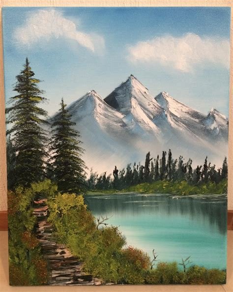 bob ross paints new bob ross painting quot distant mountains