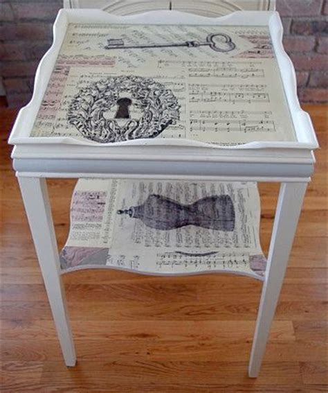 decoupage on wood table 25 best ideas about decoupage table on modge
