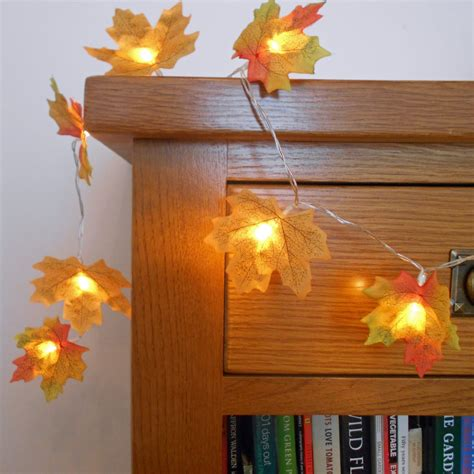 autumn string lights autumn string lights lights garland autumn leaves