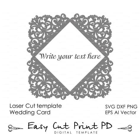 lace templates card lace wedding invitation card template folds svg dxf dwg