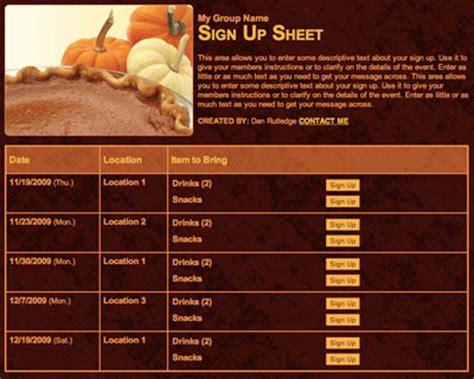 Thanksgiving Fall Potluck Dinner Celebration Sign Up
