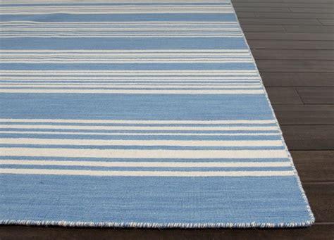 amistad bermuda blue and white striped area rug