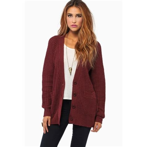 how to wear a knitted cardigan sold burgundy oversized waffle knit cardigan l from ruth s