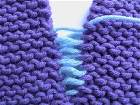 how to sew knitting edges together knitty