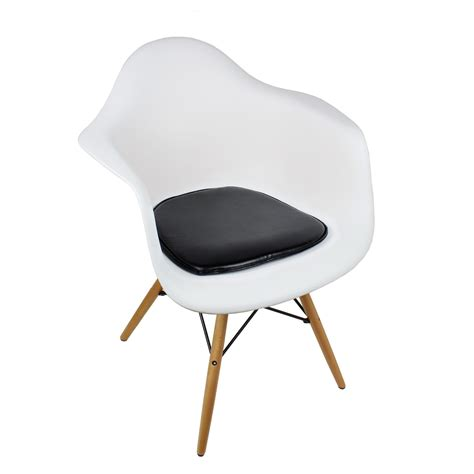 White Armchair by Eames Style Daw Molded White Plastic Dining Armchair With