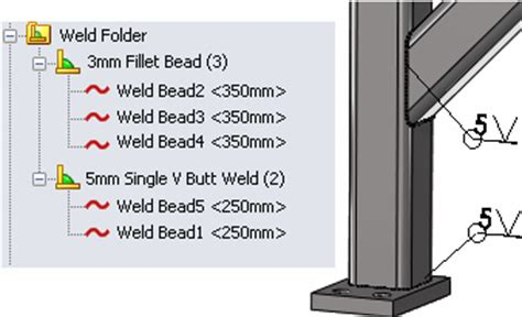 fillet bead solidworks 2013 solidworks help changing the type and size of weld