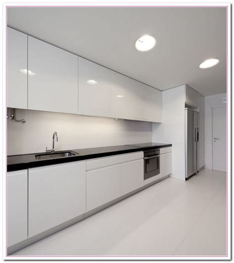 modern white kitchen cabinets white colored kitchen and granite countertop selection