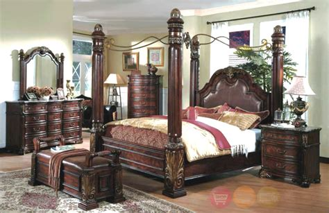 king size canopy bedroom sets king poster canopy bed marble top 5 bedroom set