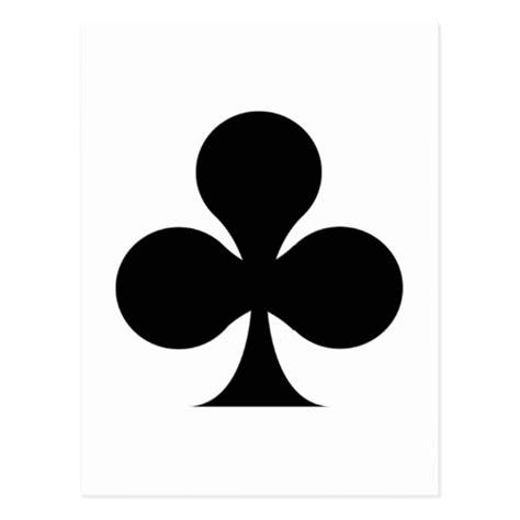 card clubs club symbol postcard zazzle