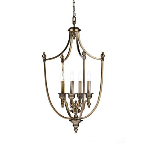 antique brass pendant light lombard lom0475 4 light pendant in antique brass