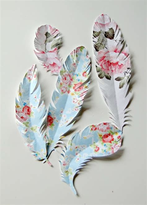 paper craft for wall decoration paper feathers for presents wall decor scrapbooking